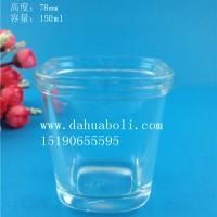 150ml方形布丁玻璃瓶,酸奶玻璃瓶批发