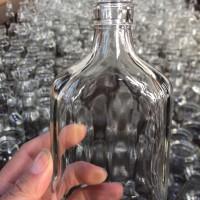 250ml保健酒玻璃瓶,徐州生产玻璃扁酒瓶