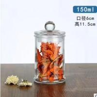 徐州生产150ml小号玻璃茶叶罐,厂家直销密封玻璃罐