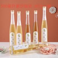 徐州生产500ml果醋玻璃酒瓶,棒球棍玻璃酒瓶