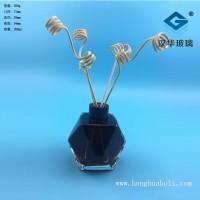 徐州生产200ml菱形香薰玻璃瓶,工艺玻璃瓶生产商