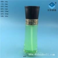 徐州生产100ml黑盖乳液玻璃瓶,厂家直销玻璃化妆品瓶