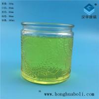 厂家直销500ml太阳花玻璃烛台蜡烛玻璃杯生产商