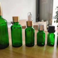 热销绿色精油玻璃瓶滴管玻璃精油瓶生产商