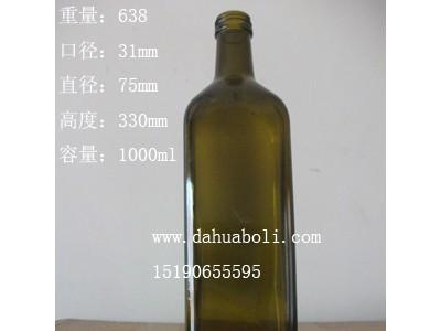 1000ml茶色方形橄榄油玻璃瓶生产商