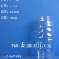 300ml果汁玻璃瓶生产厂家饮料玻璃瓶批发