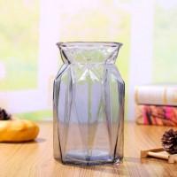 厂家直销16折纸玻璃花瓶,水培玻璃花瓶生产商,四色可选