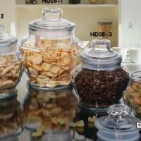 八角玻璃储物罐生产商密封玻璃罐生产厂家