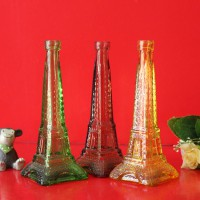 徐州生产大号铁塔玻璃花瓶喷涂玻璃工艺花瓶生产商
