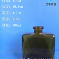 热销300ml喷涂香薰玻璃瓶长方形无火香薰玻璃瓶