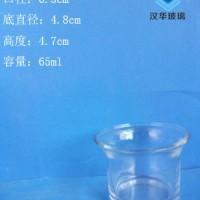 厂家直销65ml工艺玻璃烛台蜡烛玻璃杯批发