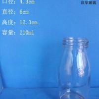 徐州生产200ml丝口玻璃牛奶瓶酸奶玻璃瓶批发
