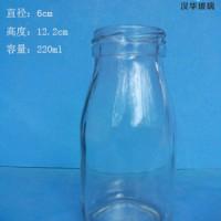 220ml丝口玻璃酸奶瓶牛奶玻璃瓶批发