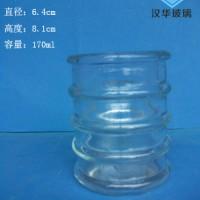 热销170ml竹节玻璃烛台蜡烛玻璃杯生产厂家