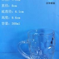 300ml菠萝啤酒玻璃把子杯生产厂家