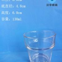 热销130ml工艺蜡烛玻璃杯高档玻璃烛台生产厂家