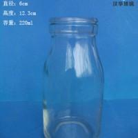 热销200ml玻璃牛奶瓶徐州酸奶玻璃瓶批发