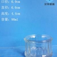 厂家直销90ml玻璃烛台蜡烛玻璃杯生产厂家