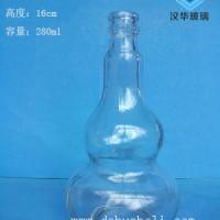 250ml透明葫芦玻璃酒瓶生产厂家