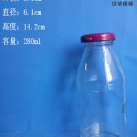 批发280ml饮料玻璃瓶果汁玻璃瓶生产厂家