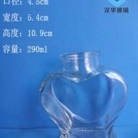 徐州生产290ml心形许愿玻璃瓶