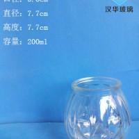 徐州生产200ml笑脸玻璃烛台工艺蜡烛杯批发