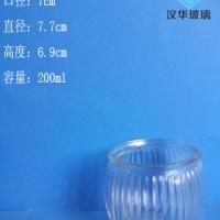 厂家直销200ml玻璃烛台工艺蜡烛玻璃杯批发