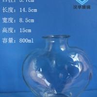 厂家直销800ml心形许愿玻璃瓶工艺玻璃瓶批发