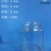 徐州生产280ml方形蜂蜜玻璃瓶麻辣酱玻璃瓶批发