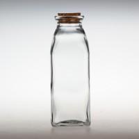 热线350ml方形冷泡茶玻璃瓶酸奶玻璃瓶生产商