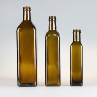 徐州生产250ml500ml750ml方形茶色橄榄油玻璃瓶