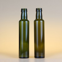 徐州生产250ml茶色圆形橄榄油玻璃瓶麻油玻璃瓶