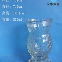 徐州生产300ml工艺玻璃烛台,厂家直销玻璃樽