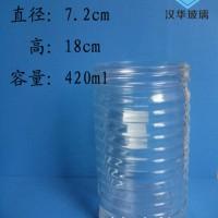 厂家直销400ml螺纹玻璃烛台,徐州蜡烛玻璃杯批发