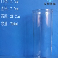 热销740ml出口蜡烛玻璃杯,直筒玻璃烛台批发