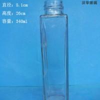 厂家直销340ml长方形玻璃果汁玻璃瓶,饮料玻璃瓶价格