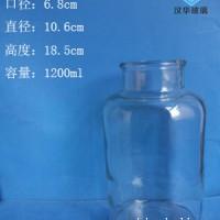 徐州生产1200ml广口玻璃瓶,透明玻璃试剂瓶生产厂家