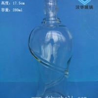 热销280ml玻璃酒瓶工艺白酒玻璃瓶批发