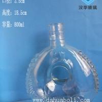徐州生产800ml洋酒玻璃瓶伏特加玻璃酒瓶批发