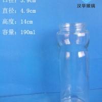 批发190ml玻璃调料瓶,徐州调味玻璃瓶生产商