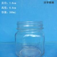 徐州生产300ml方圆蜂蜜玻璃罐,果酱玻璃瓶批发