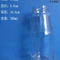 热销380ml玻璃果醋瓶果汁玻璃瓶批发饮料玻璃瓶价格
