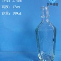 热销180ml白酒玻璃瓶工艺玻璃酒瓶生产厂家