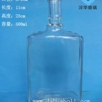 热销一斤装保健酒玻璃瓶,500ml长方形玻璃酒瓶价格