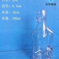 200ml卡扣玻璃酒瓶生产厂家