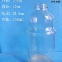 厂家直销1000ml果汁玻璃瓶,大容量玻璃饮料瓶批发