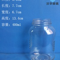 热销400ml玻璃蜂蜜瓶生产各种食品玻璃瓶