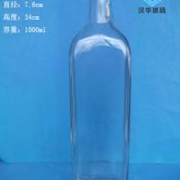 1000ml方形橄榄油玻璃瓶生产厂家