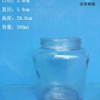 徐州生产550ml广口罐头玻璃瓶,辣椒酱玻璃瓶生产商