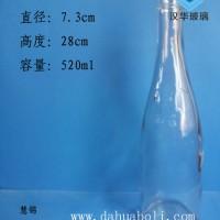 一斤装玻璃白酒瓶,厂家直销工艺玻璃酒瓶
